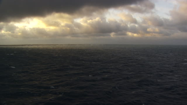 France, Bretagne: Cloudscape above Ouessant island