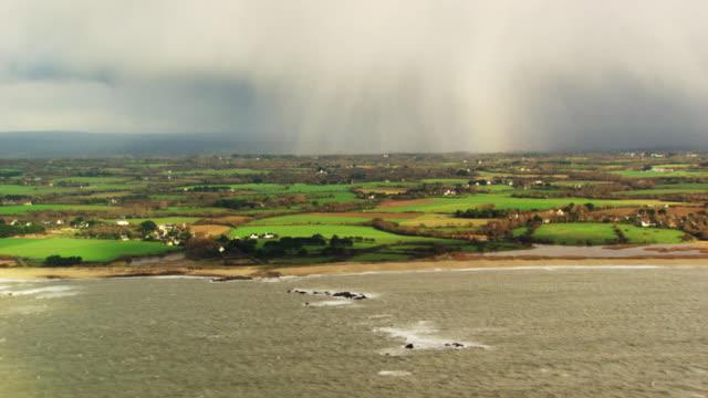 france, bretagne: french coasts with bad weather - bretagna video stock e b–roll