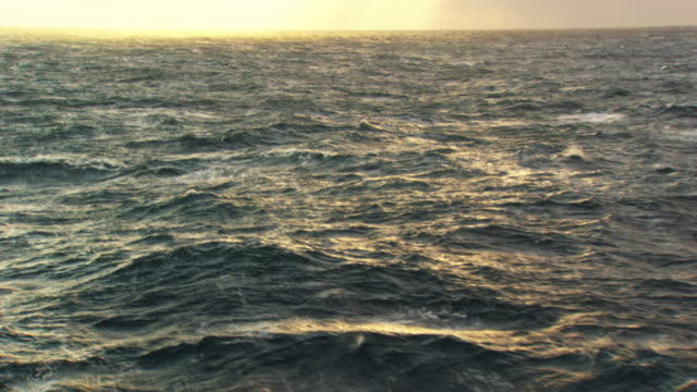 france, bretagne: waves on atlantic ocean - atlantic ocean stock videos & royalty-free footage