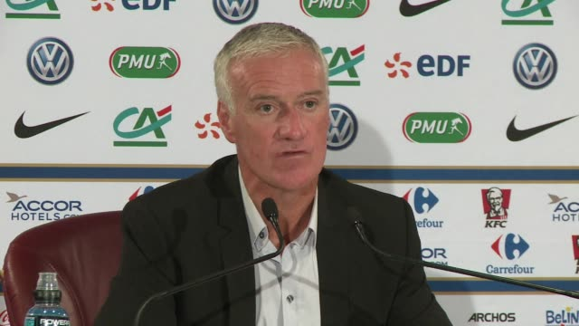 france coach didier deschamps named his squad for friendlies with belgium and albania on friday and raised eyebrows with the inclusion of juventus... - raised eyebrows stock videos & royalty-free footage