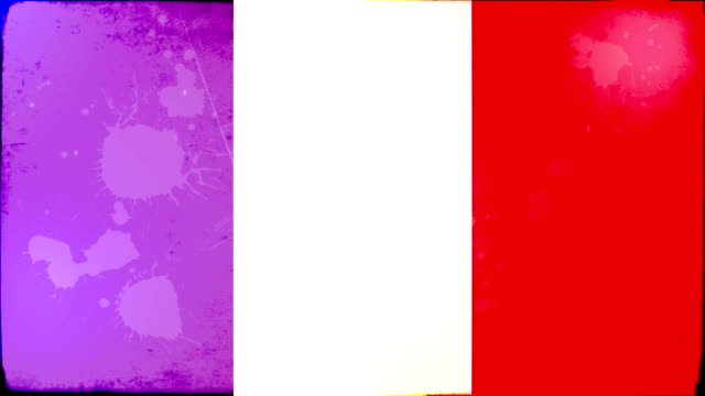 france flag - grunge. hd - frayed stock videos & royalty-free footage