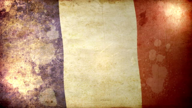 france flag - grunge. hd - french culture stock videos & royalty-free footage