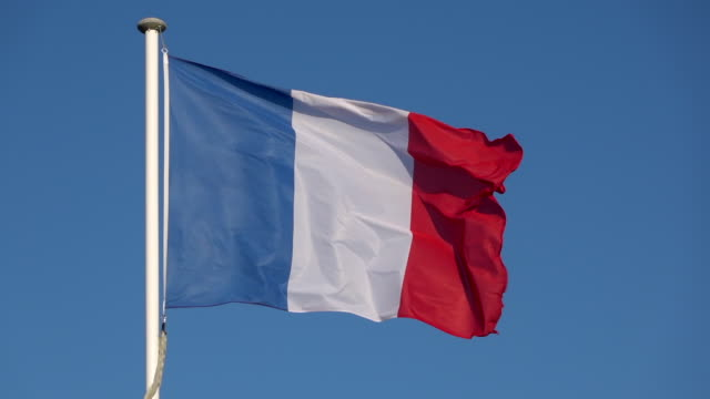 france flag in wind - french flag stock videos & royalty-free footage