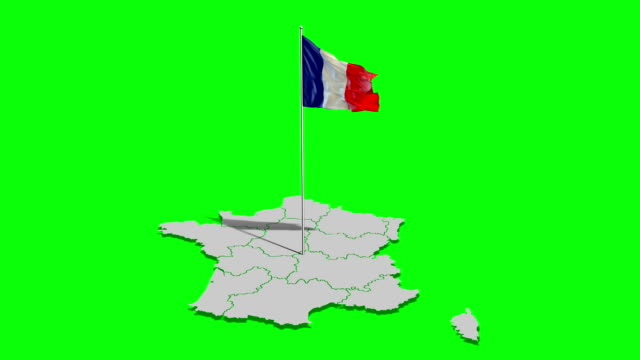 france flag & map - french flag stock videos & royalty-free footage
