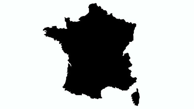 vidéos et rushes de drapeau france illustration - carte