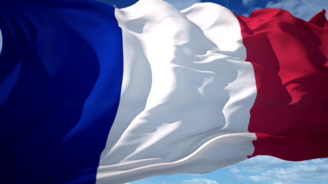 france flag - french flag stock videos and b-roll footage