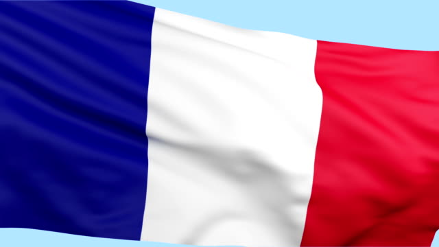 france flag waving loopable - french flag stock videos and b-roll footage