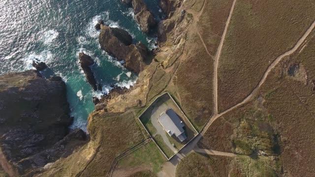 vidéos et rushes de france from the sky : pointe du van - bretagne - bretagne