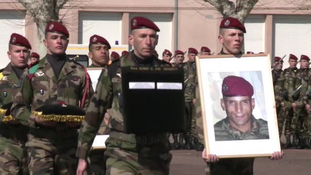 France has bestowed posthumous honours on two soldiers killed by an Islamist gunman during a killing spree in Toulouse a year ago CLEAN France...