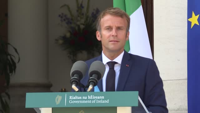 france has evacuated 2,600 from afghanistan, french president emmanuel macron say while on a visit to ireland, as the security situation at the... - report produced segment stock videos & royalty-free footage