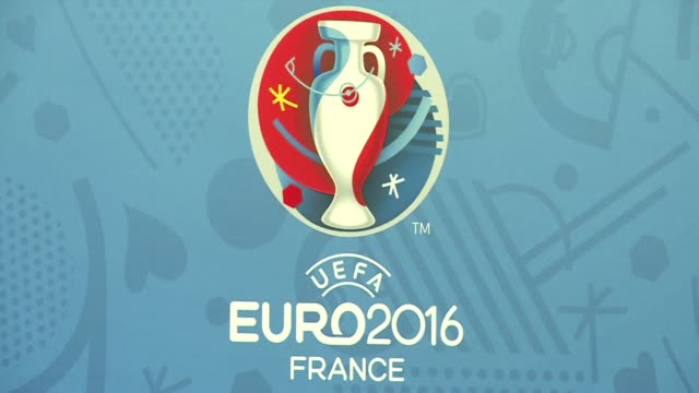 vídeos de stock, filmes e b-roll de france is preparing to host the euro 2016 football championships exactly one year from now - euro 2016
