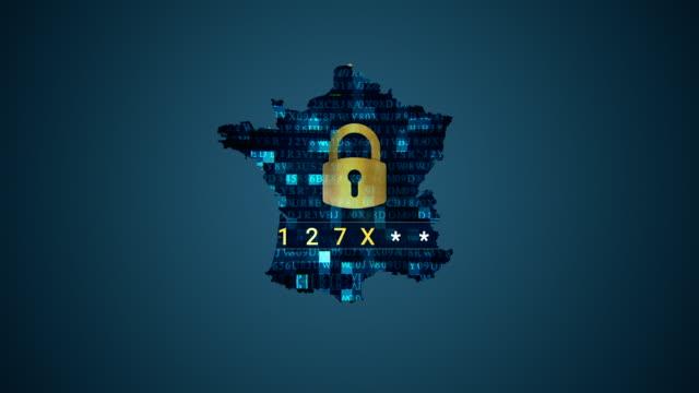 4 K Frankreich Karte und Hacking