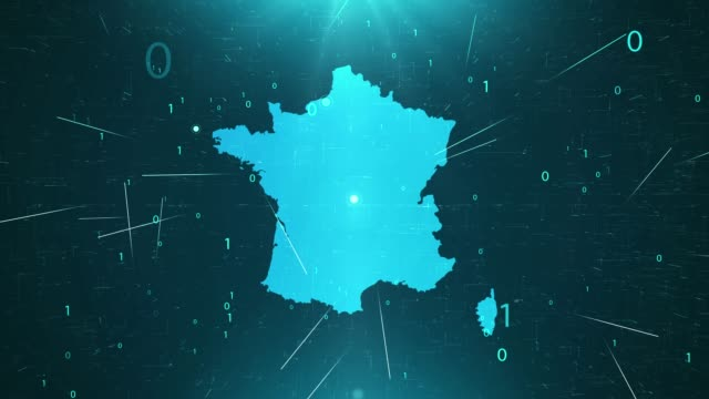 france map connections full details background - francia video stock e b–roll