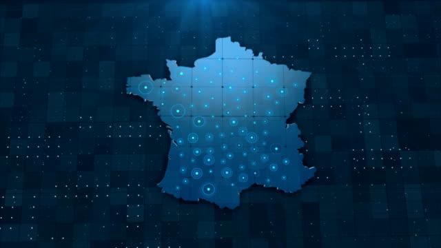 vidéos et rushes de 4k france map links 4k avec tous les détails de fond - carte