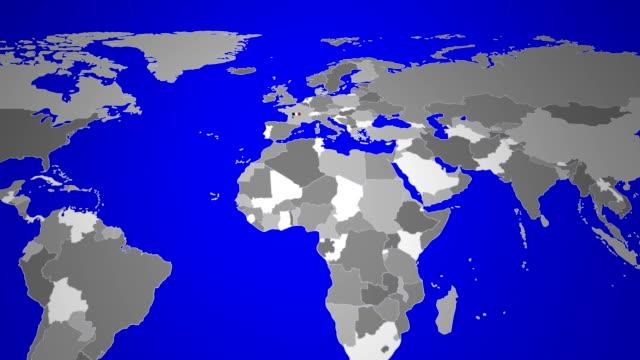 frankreich flagge karte revealed mit weben - île de france stock-videos und b-roll-filmmaterial