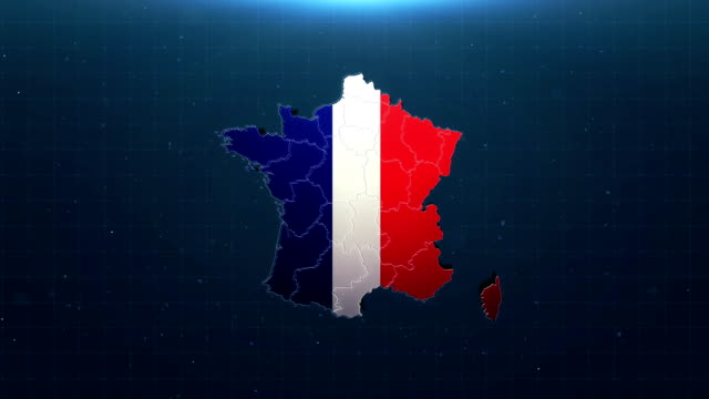 4k france map with national flag - climate map stock videos & royalty-free footage