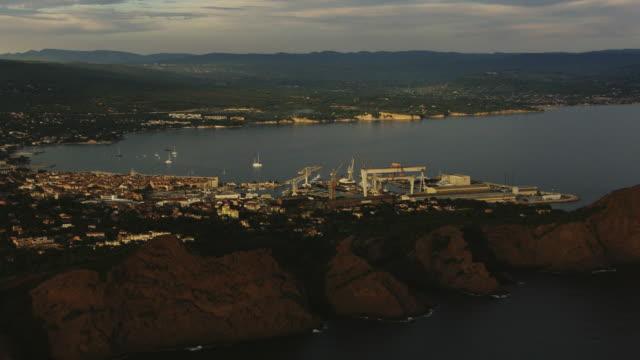 France, Marseille: Fos Port, wide shot