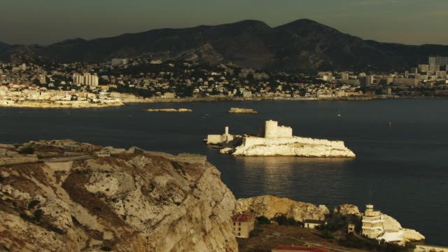france, marseille: if castle panoramic - 16th century style stock videos and b-roll footage