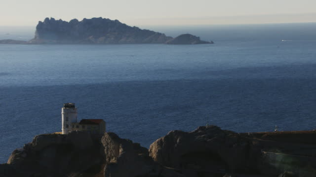 France, Marseille: Lighthouse of Frioul island