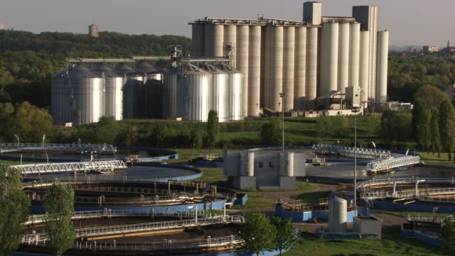 france, metz lorraine: aerial view of a water-treatment plant and metz - lorraine bildbanksvideor och videomaterial från bakom kulisserna