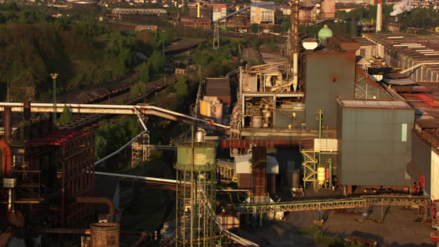 france, metz lorraine: arcelormittal steel factory - metz stock videos and b-roll footage