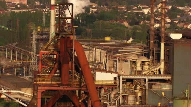 france, metz lorraine: arcelormittal steel factory - lorraine stock videos & royalty-free footage