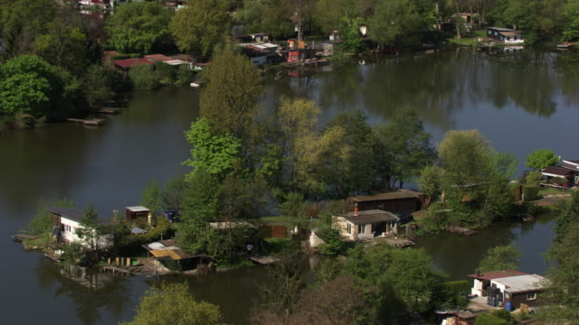 france, metz lorraine: houses by the water - metz stock videos and b-roll footage
