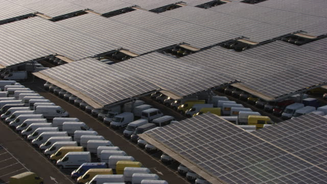 france, metz lorraine: parking made of solar panels - metz stock videos & royalty-free footage