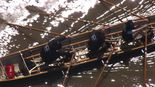 france, metz lorraine: people rowing in the moselle river - lorraine stock videos & royalty-free footage