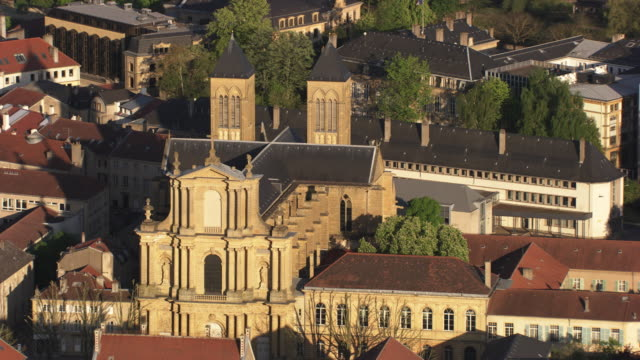 "france, metz lorraine: ""saint vincent"" basilica - metz stock videos & royalty-free footage"