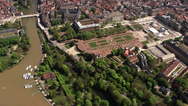 france, metz lorraine: the gardens of the republic square - metz stock videos & royalty-free footage