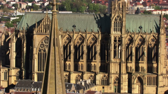 "france, metz lorraine: the ""saint-etienne cathedral"" of metz - lorraine stock videos & royalty-free footage"