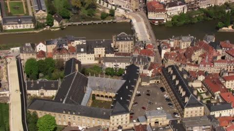 france, metz lorraine: wilhelm buildings in metz - lorraine stock-videos und b-roll-filmmaterial