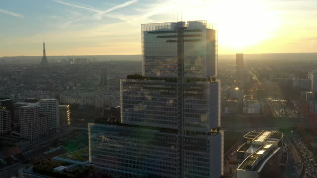france, new courthouse tribunal de paris, drone aerial view - government minister stock videos & royalty-free footage