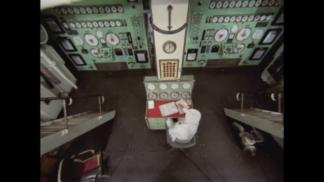 1968 - ss france ocean liner - engine room - engine stock videos & royalty-free footage