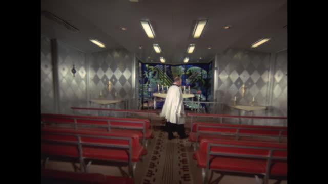 1968 - SS France ocean liner - ship's chapel