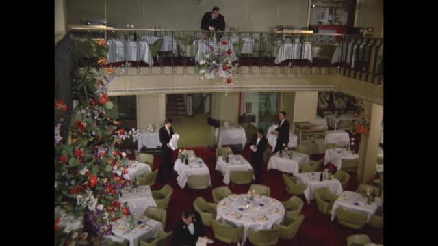 1968 - SS France ocean liner - Versailles dining room