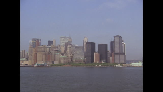 1968 - SS France ocean liner - Views of NYC harbor