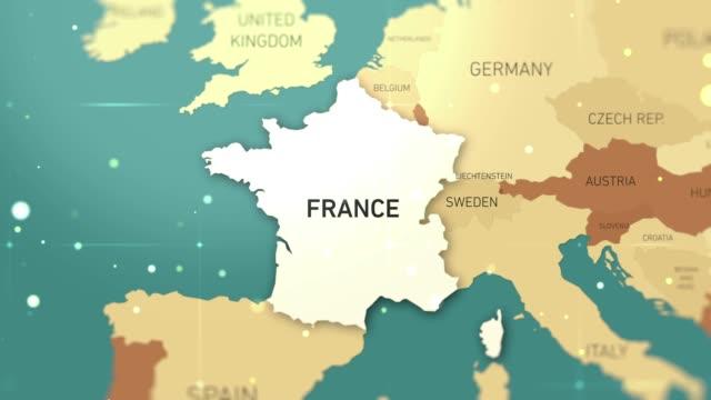 vídeos y material grabado en eventos de stock de videos de acciones de france on world map - europa continente