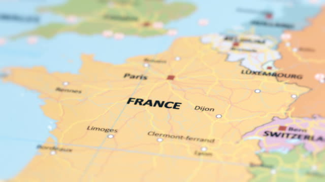 europa france on world map - france stock videos & royalty-free footage