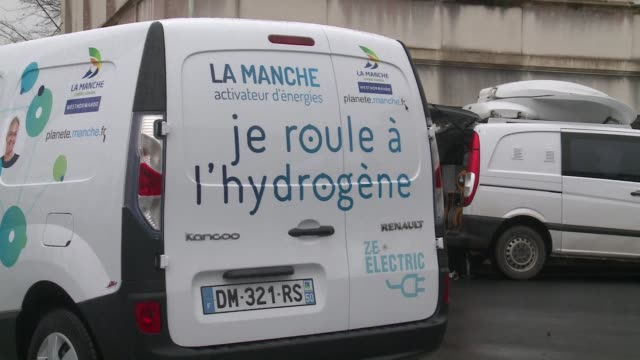 france opened its first hydrogen filling station monday - la manche stock videos and b-roll footage