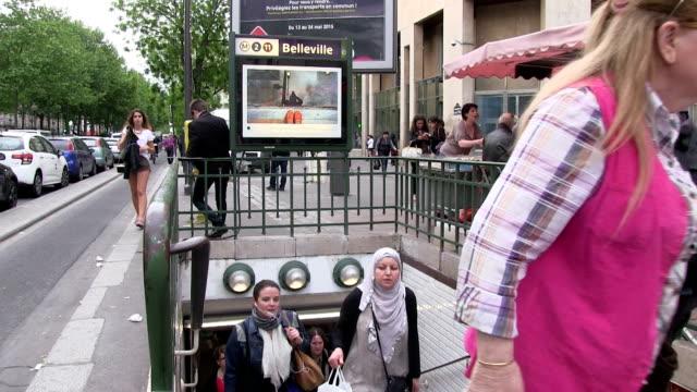 france, paris, belleville neighborhood - car park stock videos & royalty-free footage