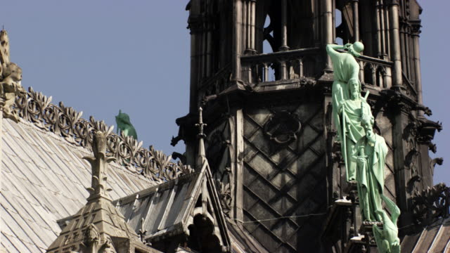 france - paris : notre-dame cathedral - notre dame de paris stock videos and b-roll footage