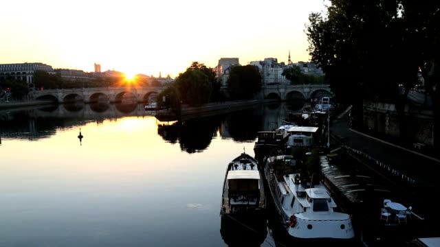 France Paris River Seine IIe de la Citie sunrise boat