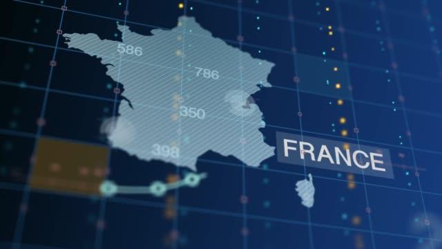 vidéos et rushes de la france augmente le graphique et les chiffres, le nombre de morts - avec l'étiquette de pays - graphique