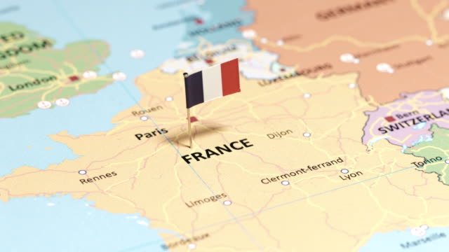 france with national flag - international landmark stock videos & royalty-free footage