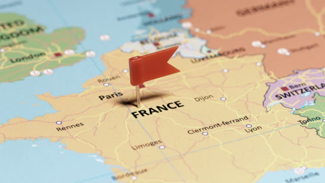 France with pin