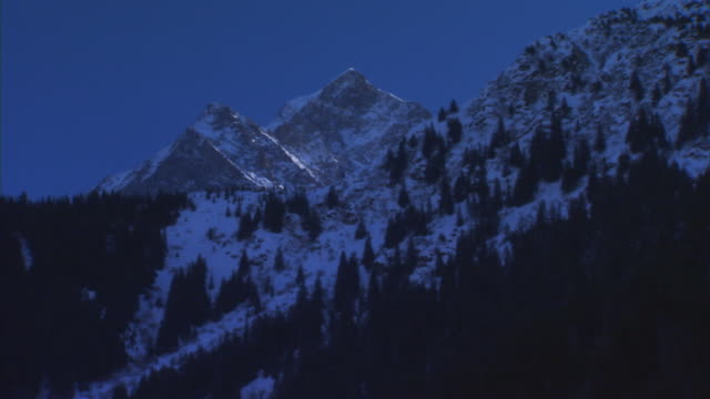 francemountain scene at night - real time stock videos & royalty-free footage