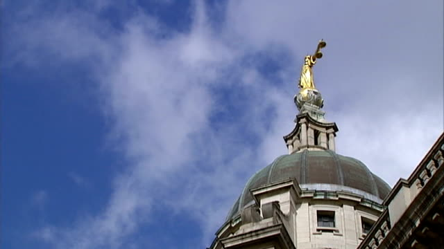coroner rules she was let down by mental health services london statue of justice atop the old bailey - statue of justice london stock videos and b-roll footage