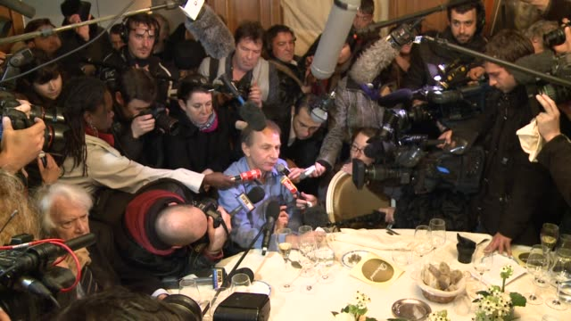 stockvideo's en b-roll-footage met france's best-known living writer michel houellebecq won the country's top literary award, the goncourt prize, on monday, for his best-selling satire... - satire